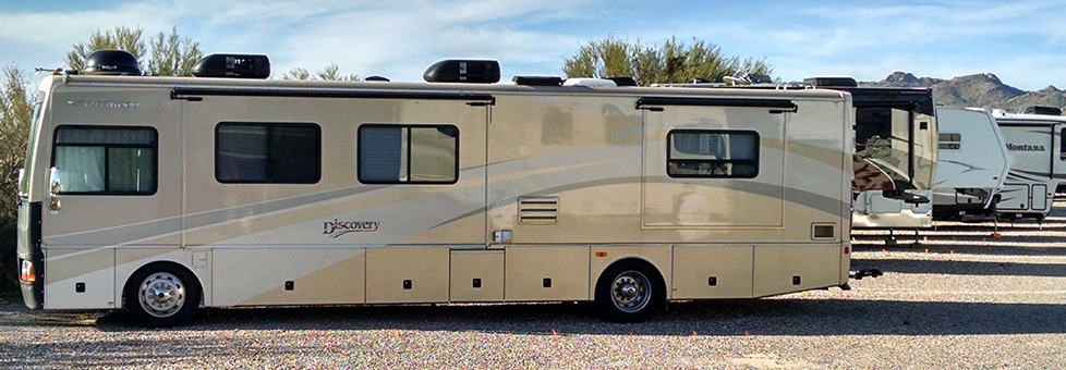 Safe, secure RV storage in Tucson/Marana/Dove Mountain